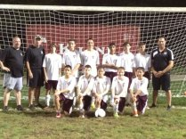 The Naugatuck Knights won the U14 division at the 28th Annual San Paio Soccer Spin Tournament Labor Day weekend. Pictured, standing from left, assistant coach Ed Walsh, coach John Alves, Griffin Puc, Zach Alves, Michael Kowalsky, Lucas Cruz, Sean Price, Nick Karas and assistant coach Alan McNeil. Kneeling, from left, Sam Rego, Shaun Walsh, Jared McNeil, Matthew Carroll and Christian Jacobi. -CONTRIBUTED