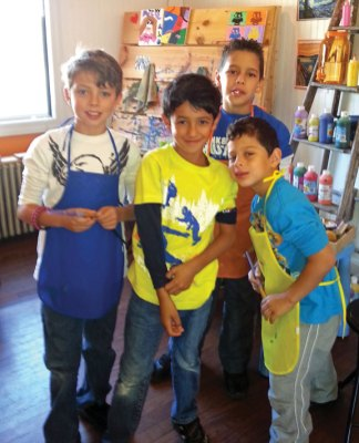 A total of $201 was raised during a Sept. 28 fundraiser at Kids Create in Naugatuck to help pay for a portable ice skating rink for the borough. -CONTRIBUTED