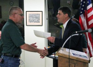 A ceremony was held Monday night to swear in 19 new members of Naugatuck's Community Emergency Response Team. –ELIO GUGLIOTTI