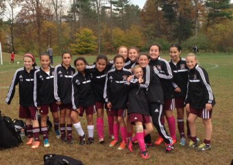 The Naugatuck Revolution U12 girls beat Neconn, 7-2, in the quarterfinals of the Connecticut State Soccer Cup to advance to a semifinal game against CWSA Lightning Strikers. The semifinal game will be played Oct. 26 at 4 p.m. at Maple Hill School in Naugatuck. -CONTRIBUTED