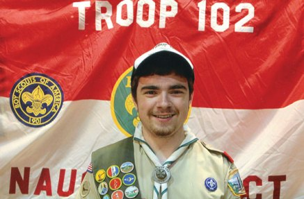 Boy Scout Austin Wagner of Troop 102 in Naugatuck recently earned the rank of Eagle Scout. Wagner was honored during a ceremony Aug. 21 at the Naugatuck Congregational Church. –CONTRIBUTED