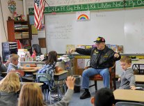 Veterans and active members of the military visited St. Francis-St. Hedwig School in Naugatuck Nov. 8 to talk with students. The veterans, who served during many different years and wars, told the students of their experience in their respective branches of the military. –LUKE MARSHALL