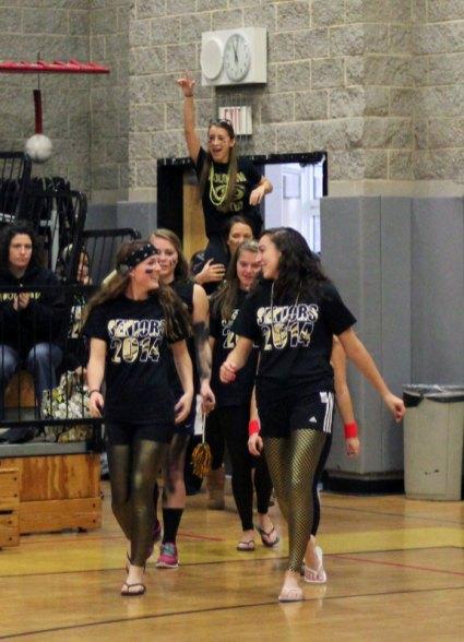 Naugatuck and Woodland high schools held pep rallies Nov. 27 to culminate spirit week at the schools. PHOTOS BY ELIO GUGLIOTTI AND LUKE MARSHALL