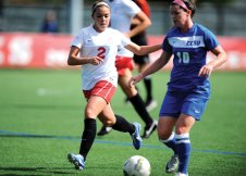 Naugatuck High graduate Steph Santos (2), a junior midfielder at the University of Hartford, will play for the Portuguese national women's team takes in the 21st Algarve Cup. - STEVE MCLAUGHLIN/UNIVERSITY OF HARTFORD ATHLETICS