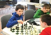 Youth play chess at the Prospect Library Feb. 24. The library is hosting a chess practice program for students in second grade through 12th grade every Monday through March 31. –LUKE MARSHALL