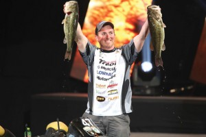 Paul Mueller, 29, of Naugatuck finished second at the 2014 Bassmaster Classic, held Feb. 21-23 at Lake Guntersville in Birmingham, Ala. Mueller set the one-day record at the tournament with five keepers weighing 32 pounds, 3 ounces. -GARY TRAMONTINA