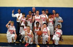 Nardelli's won the Naugatuck YMCA Little Pal senior boys basketball championship last week. The Grinder Boys clinched the title by winning the first two games (53-39, 61-55) of a best-of-three series with the Firefighters. –KEN MORSE