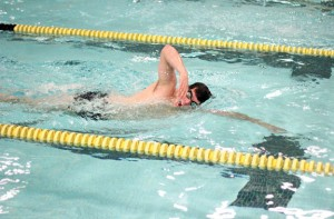 Woodland senior Andy O'Dell earned a pair of seventh-place finishes in the freestyle sprints, posting times of 23.26 seconds in the 50 free and 50.36 seconds in the 100 free at the Class S championships. –FILE PHOTOS