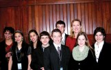 State Rep. Lezlye Zupkus (R-89) met with students March 26 from Prospect and Southington who were at the state Capitol to participate in TeenPact, a hands-on leadership program for Christian students aimed at giving students more understanding of the political process. The students included Joshua Shirk, Hannah Shirk, Daniel Shirk, Christopher Lynch, Jessena Sterling, Juliana Sterling, Susannah Wallace and Rebekah Wallace. -CONTRIBUTED