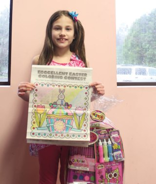 Lana Poulin of Prospect won the Citizen's News' Easter coloring contest in the 6- to 8-year-old age group. –ELIO GUGLIOTTI