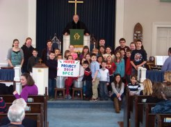 The Sunday school students of Beacon Falls Congregational Church raised a total of $871.51 last month for Heifer International, an organization which works to end hunger through gifts of livestock and training. –LIZA ZAJAC WHITEHEAD