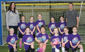 The U8 Prospect United girls soccer team was recently crowned league champions as the team completed an undefeated season (7-0) in league play at Farmington Sports Arena. Pictured in top row (from left) coach Dana Mulligan, Casey Mulligan, Kyla O'Connor, Isabella Mastropietro, Ava Muharem, Brooke Geary, coach Dave Celotto, bottom row (from left) Jamie Shaffer, Emme Starzman, Alexa Choi, Michaela Gasparri, Daniella Celotto and Meghan Hartnett. Missing from photo, Keira Farrell.-CONTRIBUTED