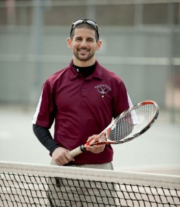 Naugatuck High School physical education teacher Tony Loomis, who also coaches tennis, has been named the national high school physical education teacher of the year by SHAPE America.-RA ARCHIVE