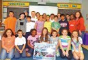 St. Bridget School in Cheshire held a dress down day to support the 2014 AngelRide, which took place over Memorial Day weekend. Students were asked to donate $1. Fourth-grade students supported Samantha Strell (center) of Prospect by raising over $350. –CONTRIBUTED