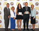Andrea Piccolo and Jake Boncal of Woodland Regional High School in Beacon Falls (pictured holding awards) were honored in June at the 2014 Connecticut Association of Schools (CAS) Scholar-Athlete Banquet. One male and one female student are eligible for the award through a nomination from their principal for demonstrating exemplary academic and athletic careers, possessing personal standards and achievements that are a model to others, exhibiting outstanding school and community service and carrying themselves with high levels of integrity, self-discipline and courage. -CONTRIBUTED