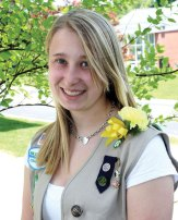 Emily Trumbley of Prospect recently earned her Girl Scout Gold Award. In order to earn the Gold Award, which is the highest award in Girls Scouts, scouts spend at least 80 hours researching issues, assessing community needs and resources, building a team and making a sustainable impact in the community. Trumbley developed a two-year summer chapel curriculum for area churches to utilize, helping them address a need for summer engagement of youth. A copy of this curriculum was given to the United Church of Christ Connecticut Conference Library so that churches around and outside the state could utilize the curriculum in the future. -CONTRIBUTED