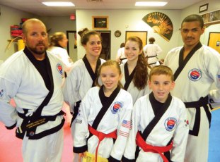 USA Martial Arts in Naugatuck held a karate grading on May 19, and six members were invited to grade at a black belt grading Aug. 22. Invited to grade are Anthony Oliver, Jessica Gallagher, Kathleen Robinson, Nicole Buckley, Jack Schwarz and Chrilstian Vazquez. –CONTRIBUTED