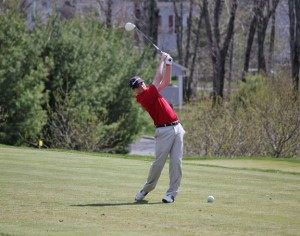 Naugatuck senior and three-year captain Nick Tribanas led the Greyhounds to their best record in more than 10 years. Tribanas and fellow seniors Brendan Waldron, Tyler Sounanthanam, Dan Capone and Tom Karas helped to bring Naugatuck golf back to prominence in their four years. –FILE PHOTO