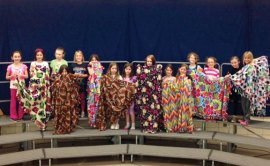 Girl Scout Brownie Troop 64539 from Prospect recently conducted a community service project and made fleece tie blankets for the Connecticut Chapter of The Binky Patrol. The blankets will be distributed to children in Connecticut who are sick, traumatized, grieving or homeless. –CONTRIBUTED
