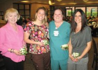 Cheryl Santiago, RN, of Prospect, (pictured above third from left), was among four nurses at Griffin Hospital to be named 2014 Nightingale Award for Excellence in Nursing winners. The winners were recognized during a recent Nurses Week luncheon and ceremony. The Nightingale Award celebrates outstanding nurses and elevates the nursing profession. -CONTRIBUTED