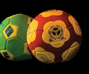 This photograph of tchouckballs is among the pictures Gary Hodge of Naugatuck is planning to exhibit as part of an art show on various sports balls. Tchouckball is an international game developed by the late Dr. Hermann Brandt, who was a Swiss biologist. -GARY HODGE