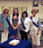 The Naugatuck Emblem Club awarded its 2014 scholarship to Hannah Deegan, a graduate of Woodland Regional High School, on June 10. Pictured, from left, Emblem Club President Annette Balog, Deegan, Scholarship Chairman Laurel Rek and club member Rosemary Douty. -CONTRIBUTED