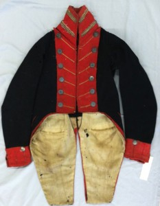 This uniform from the War of 1812 will be one of the pieces featured in the Prospect Historical Society and Connecticut Historical Society's Victorian tea and fashion show, 'From Bonnets to Bell Bottoms: A Century of Connecticut Fashion,' Oct. 19. –CONTRIBUTED