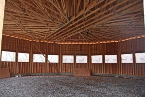 A heated indoor riding arena is currently under construction at Hidden Acres Therapeutic Riding Center in Naugatuck. The arena is expected to be finished in February. Once it is completed Hidden Acres will be able to expand its service. –LUKE MARSHALL