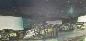 A mock-up of what the proposed drive-in movie theater in Naugatuck could look like. -CONTRIBUTED