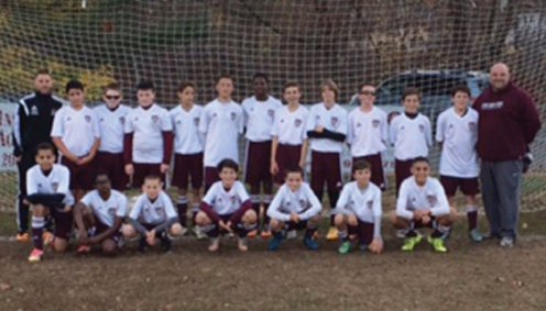 The Naugatuck Youth Soccer U13 boys soccer team took second place at the Naugatuck Invitational Soccer Tournament Nov. 7-8. –CONTRIBUTED