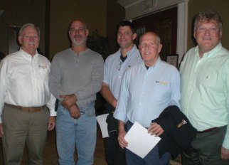 Mark Collodel of Naugatuck, second from left, was recognized by Wesson Energy Oct. 22 as one of the company's top Safe Drivers for driving for 10 or more consecutive years without involvement in a preventable accident or spill. Pictured, from left, owner and CEO of Wesson Energy Robert Wesson, Collodel, fellow Safe Drivers Dave Fecteau and Roger Raymond, and Vice President Sales and Marketing for Wesson Energy John Lucera. –CONTRIBUTED