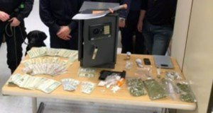 Police seized drugs, money and other items from a home in Naugatuck following a raid Dec. 16. –CONTRIBUTED