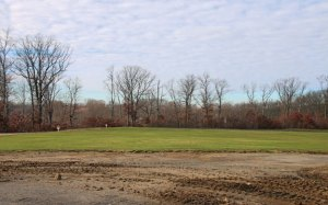 The borough is planning to build an athletic field on this land off of Osborn Road and Wisteria Drive in the Apple Hill Estates subdivision. –LUKE MARSHALL