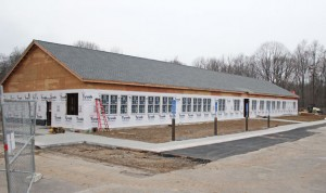 The new Region 16 district office is currently being built on Coer Road in Prospect. The office, which is the last piece of a three-part school building project, is expected to be finished in March. –ELIO GUGLIOTTI