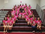 The Naugatuck High School volleyball team raised $400 for the American Cancer Society in October from a variety of fundraisers, including the sale of donation cards, raffles, money raised from concession sales and donations. –CONTRIBUTED