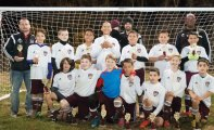 The Naugy Lasers, a Naugatuck Youth Soccer U11 team, won the U11 boys division at the Naugatuck Invitation Soccer Tournament Nov. 7-8. -CONTRIBUTED
