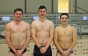 Woodland seniors, from left, James Jensen, Donovan White and Jordan Baer will lead the Hawks this season. –ELIO GUGLIOTTI