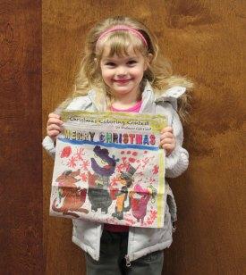The Citizen's News recently held its Christmas coloring contest. Mya Quinones won in the 3- to 5-year-old age group. –ELIO GUGLIOTTI