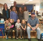 Naugatuck Day Care recently hosted its annual Thanksgiving Feast. Pictured with the children are Naugatuck Mayor N. Warren 'Pete' Hess (in back), board members Nancy Clarke, Lisa Dias, Erica Osborne, Lorianne Adamaitis and Mike Knapp. -CONTRIBUTED