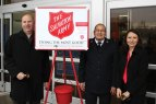 State representatives Rosa Rebimbas (R-70), right, and David Labriola (R-131), left, rang the holiday bell for the Salvation Army outside the Naugatuck Walmart in December and raised $5,144 in an hour that will go to local families in need. –CONTRIBUTED
