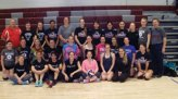 Naugatuck High School volleyball alumni participated in the 10th annual alumni volleyball matches Nov. 28 at the school. -CONTRIBUTED