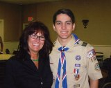 Boy Scout Evan Vaz, of Naugatuck Troop 109, earned his Eagle Scout badge Jan. 29 during a Court of Honor at the Waterbury Elks Lodge. He is pictured with his mother, Anne Vaz. –CONTRIBUTED