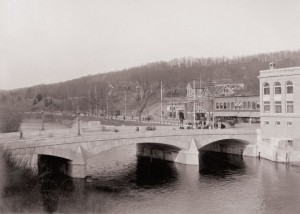 This photo shows the Whittemore Bridge in Naugatuck prior to the Flood of 1955. The borough is planning work on the bridge, which includes restoring its original look. –COURTESY OF THE NAUGATUCK HISTORICAL SOCIETY