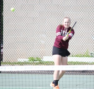 Naugatuck senior and girls tennis captain Sarah Cook will lead the Greyhounds on the court this season. –FILE PHOTO