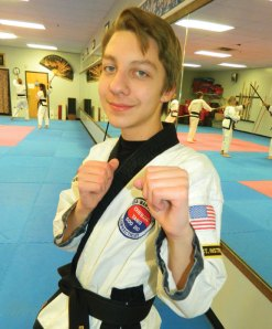 A board Break-A-Thon was held at USA Martial Arts in Naugatuck on March 5 to benefit St. Jude's Children's Hospital in Boston. Thirty-one breakers broke over 1,000 boards and raised $1,695 this year. The Break-A-Thon has raised $59,700 since inception in 2004. The top fundraisers were Ben Meleschnig, pictured, and Brian Nelson. –CONTRIBUTED