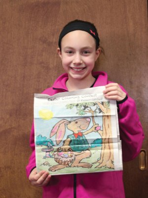 The Citizen's News recently held its Easter coloring contest. We would like to thank all of the children who participated in the contest. Gianna Yannantuono won the Citizen's News Easter coloring contest in the 9- to 12-year-old age group. –ELIO GUGLIOTTI