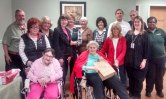 In honor of National Volunteer week, Beacon Brook Health Center hosted a luncheon to honor its volunteers. Pictured, front row from left, Linda Hanley, Florence Creatura, Mary Santo, Lorraine Dixon, Director of Recreation Sami Wnek; second row from left, Robert Wnek, Marie Wnek, Beverley Russo, Jackie Martins, TRD, Judi McKinney, Debbie Bingham, Jody Rossi, Ed Pelkey and Barbara Smith. –CONTRIBUTED
