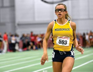 Michaela Pernell, of Naugatuck, earned multiple accolades during her freshman season running track at Merrimack College. -COURTESY OF MERRIMACK COLLEGE
