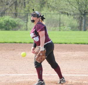 Naugatuck's Jessica Conover pitched four and a third innings Tuesday versus Windsor in the Class L tournament. Windsor won the game, 5-2. –FILE PHOTO
