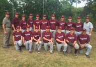 The Naugatuck Babe Ruth 14-15-year-old All-Star team recently finished third in a Babe Ruth All-Star tournament in Milford. The team beat Waterbury and Ansonia, before losing to Shelton. Pictured, front row from right, John Braziel, Ryan McCarthy, John McGovern, Justin Carasone, Dawson Sigetti, Josh Lastra, Tommy Ayash; back row from left, coaches Bryan Farrell, Gene Hensley, Spencer Hensley, Adam Ferrara, Zach Royka, Sammy Ayash, Ryan Brink, TJ Henry, Zach Koslosky, Brian Andrade and coach Dennis Sigetti. –CONTRIBUTED